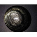 obsidienne argentée motif fleur de vie
