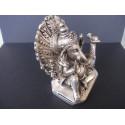 Statue du dieu Ganesh avec paon et souris, 11.5 x 6 x 8.5 cm