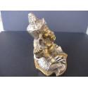 Statue dieu Ganesh avec lotus et trident, 420g