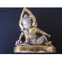 Statue du dieu Ganesh avec cobra et poignard, symbolise la levée des obstacles