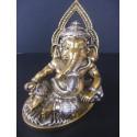 Statue du dieu Ganesh avec cobra et poignard, symbolise la levée des obstacles, 370g