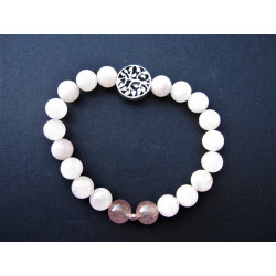Bracelet arbre de vie en quartz rose