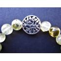 Bracelet arbre de vie en prehnite et argent