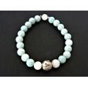 Bracelet de protection Yin Yang en amazonite