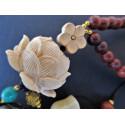 Amulette de protection lotus et agate