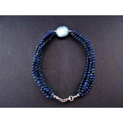 Bracelet en lapis lazuli et aigue marine