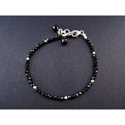Bracelet en spinelle noire