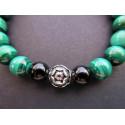 Bracelet en malachite et lapis lazuli