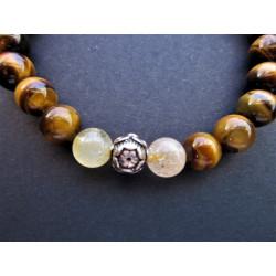 Bracelet de protection en oeil de tigre et citrine