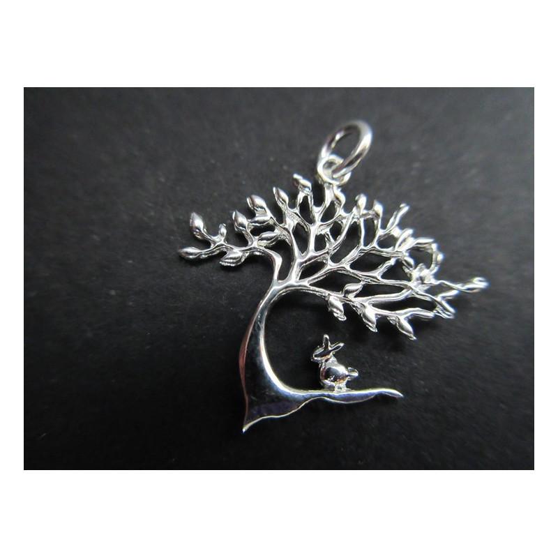 Pendentif arbre de vie stylisé