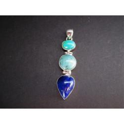 lapis lazuli monté en pendentif