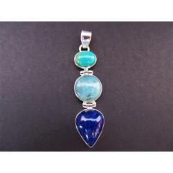 Pendentif en lapis lazuli en forme de goutte