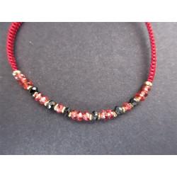 bracelet cordon en grenat