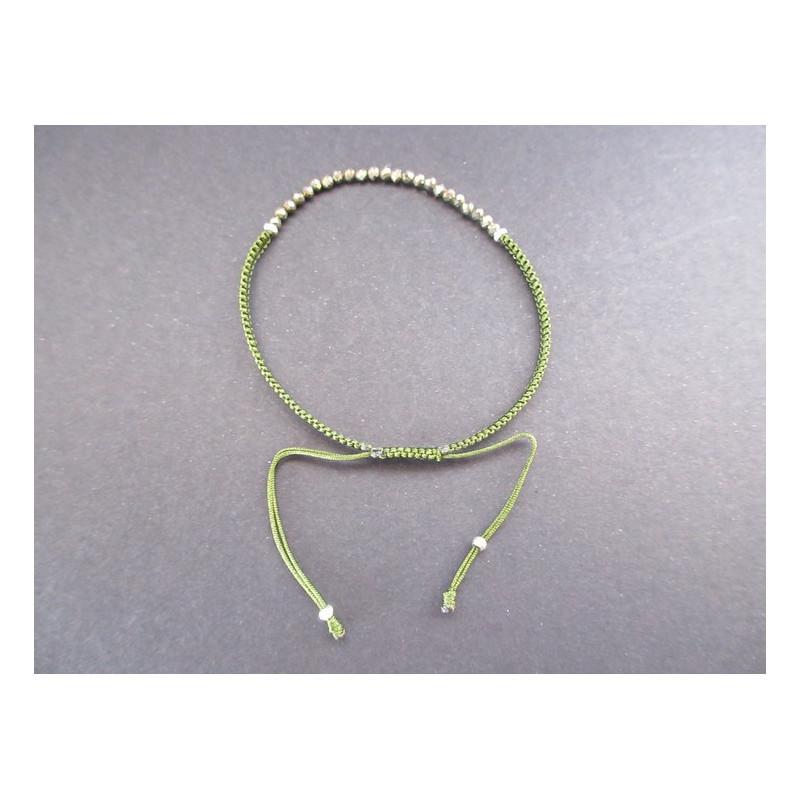Bracelet lucky en pyrite