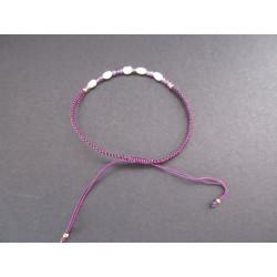 Bracelet Lucky en perle et améthyste
