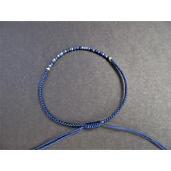 bracelet cordon en lapis lazuli