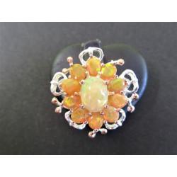 Bague en opale de feu
