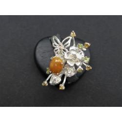 Bague papillon en opale d'Ethiopie