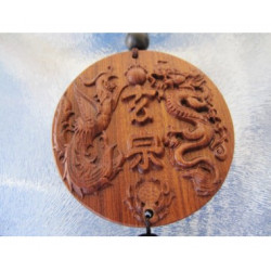 Amulette de protection dragon et phoenix