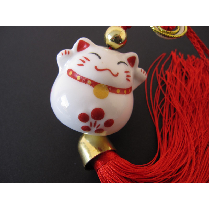 Chat maneki neko, Hauteur totale : 33 cm