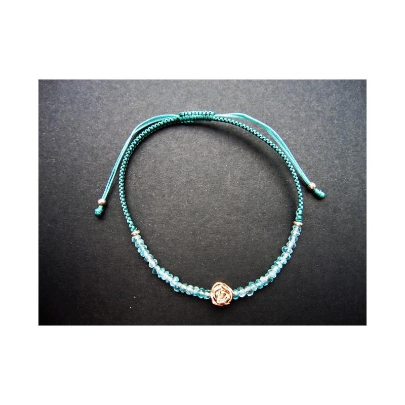Bracelet lucky en aigue marine