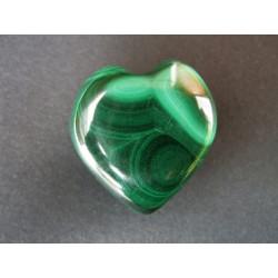 Pendentif coeur en malachite