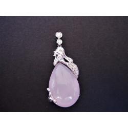 Pendentif sirène quartz rose