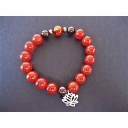 Bracelet bouddhiste de protection cornaline