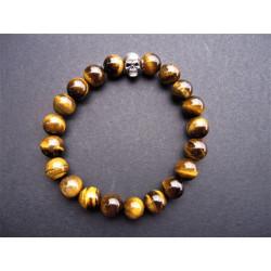 Bracelet pour homme en oeil de tigre
