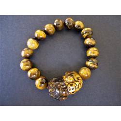 bracelet pi xiu en oeil de tigre