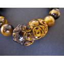 bracelet pi xiu en oeil de tigre, Taille du pi xiu : 2.8 x 1.4 cm