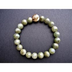 Bracelet pour homme en labradorite et graine de bodhi