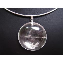 pendentif en cristal de roche