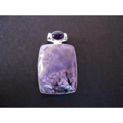 Pendentif en tiffany stone et améthyste