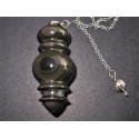 Grand pendule divinatoire en obsidienne oeil céleste