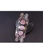 Bijoux en quartz rose